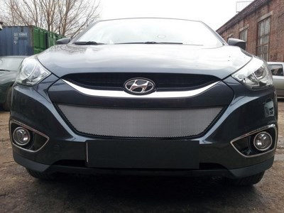 Защита радиатора  Hyundai IX35 2010- chrome . Цвет: хром