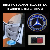 Беспроводной проектор в дверь Mercedes ― avtopear.ru